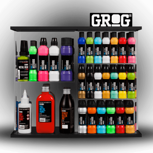 Grog ink display