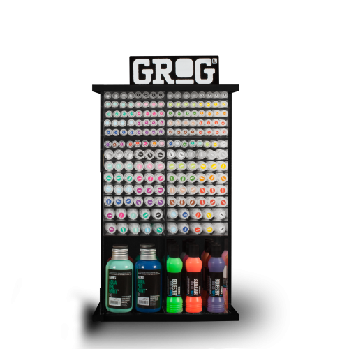 Grog Graffiti Products Displayer